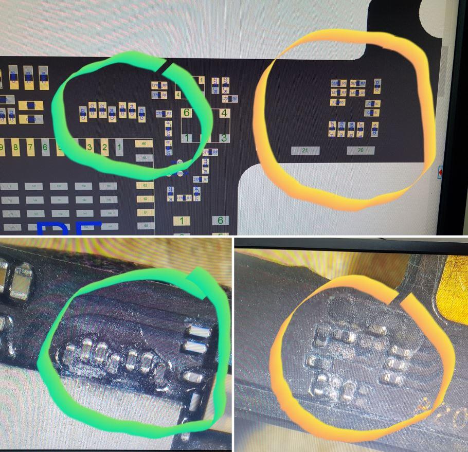 Technische tekening iPhone 7 PLUS moederbord