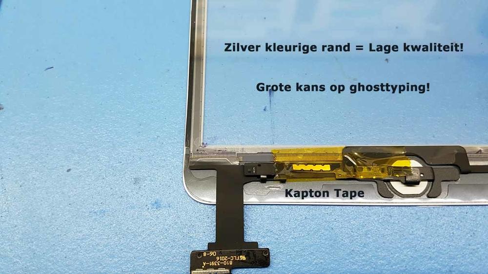 iPad scherm zilver kleurige rand